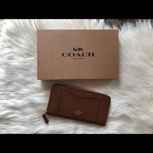 Coach saddle brown wallet